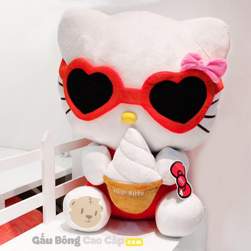 Gấu Bông Hello Kitty Đeo Kính