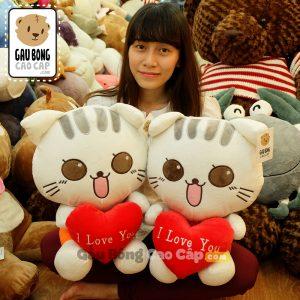 Mèo Bông Kute Tim Love