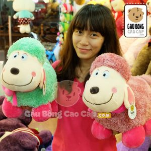 Cừu Bông Đeo nơ Tim