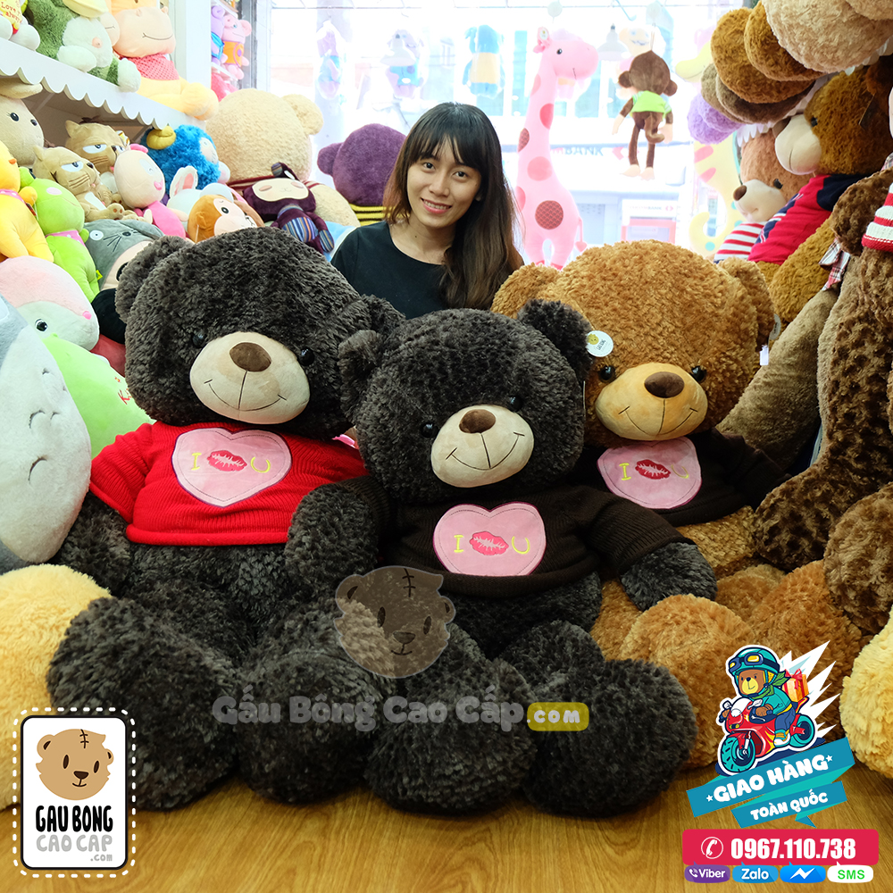 Gấu Teddy I KISS YOU Size lớn 1m4