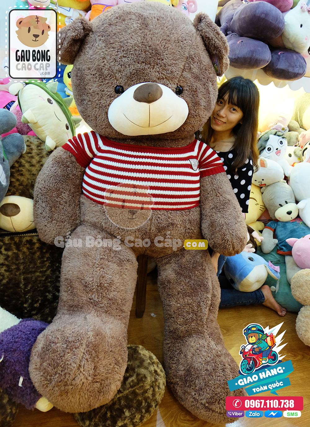 Gấu bông lớn lông sợi