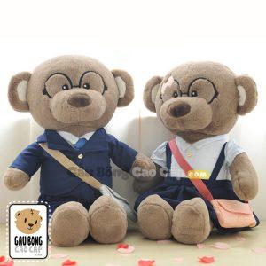 Gấu Teddy cặp Học Sinh