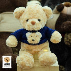Gấu bông áo len mặt Gấu