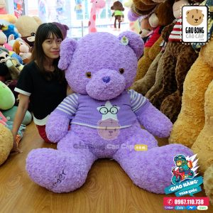 Gấu teddy áo len TÍM LAVENDER