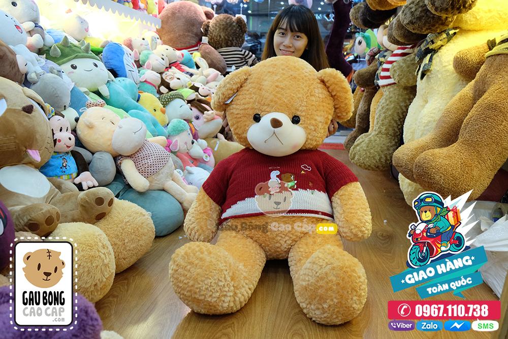 Gấu Teddy áo len lông vàng