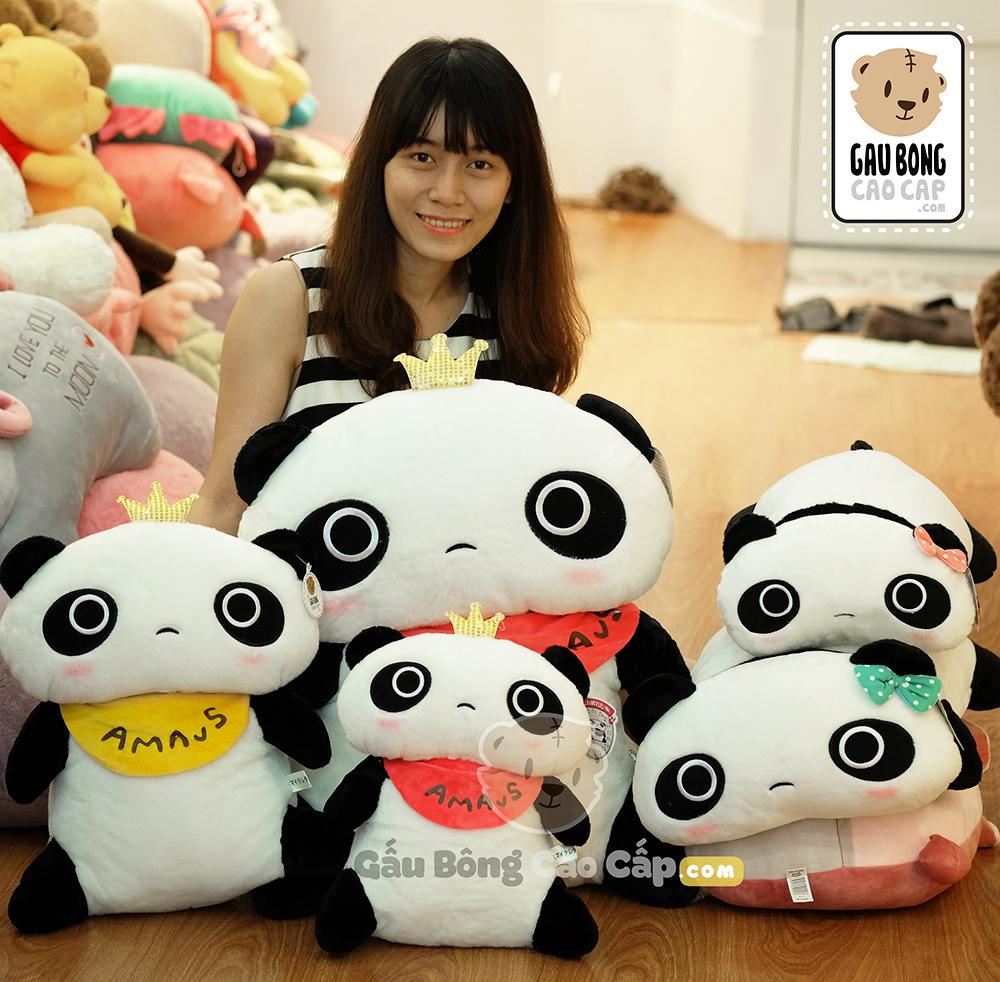 Gấu Bông Panda Vương Miệng