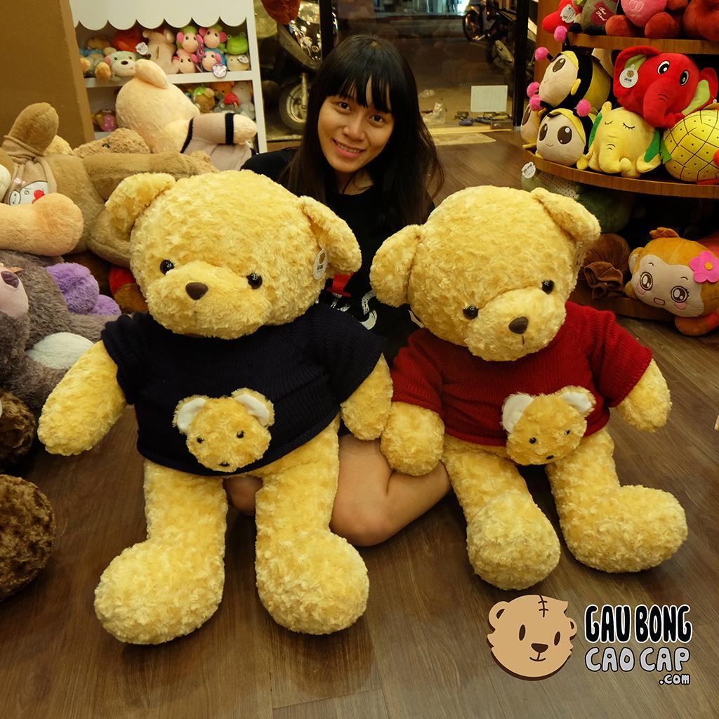Gấu Teddy áo len mặt Gấu