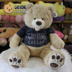 Gấu Teddy Costco mặc áo len - Vàng nhạt