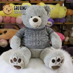 Gấu Teddy Costo mặc áo len – Xám