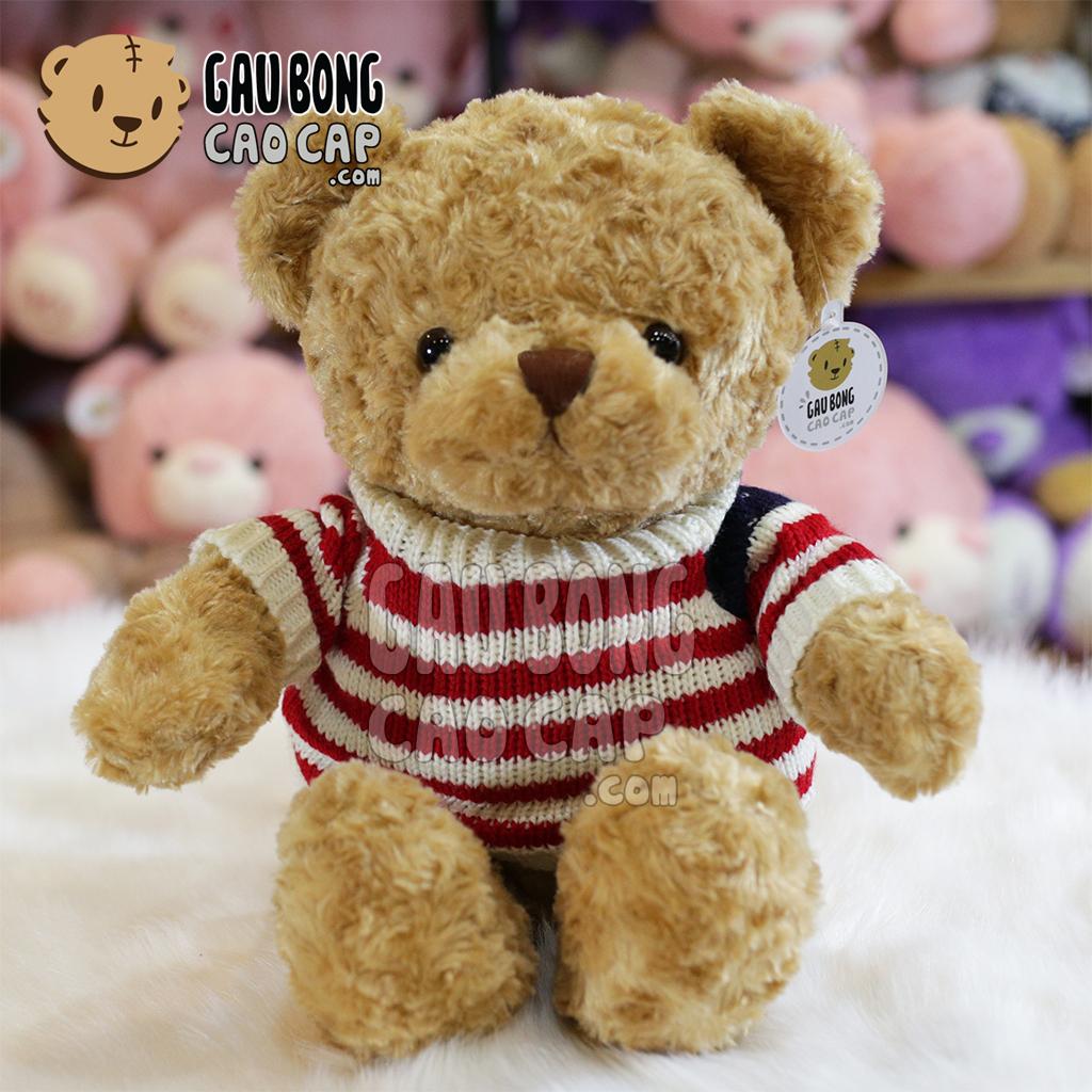 Gấu Teddy áo len cờ mỹ màu vàng