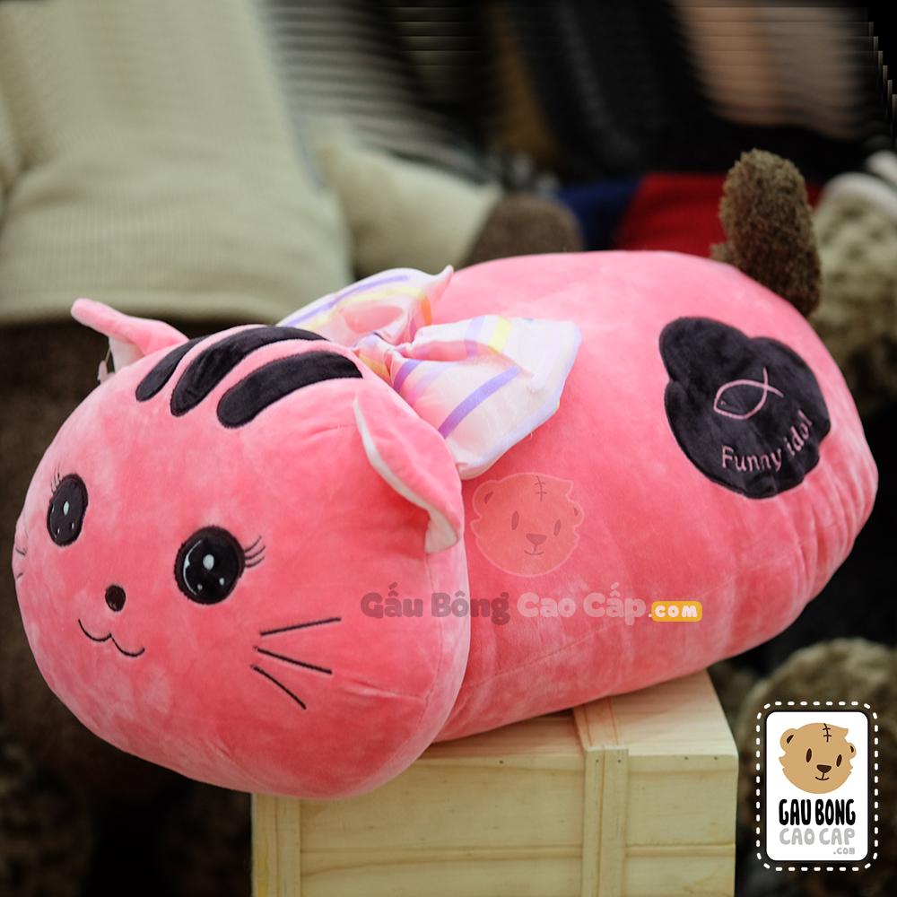 Mèo Bông nằm đeo nơ - Funny idol