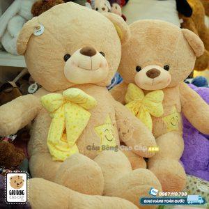 Gấu Teddy nơ sao mặt cười Lucky Star