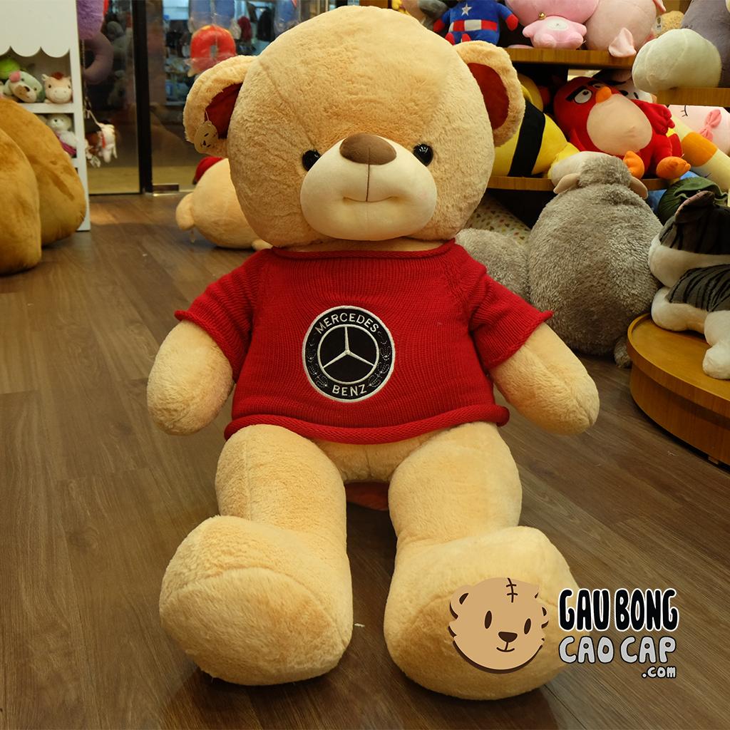 Gấu Teddy Smiley áo len Đỏ