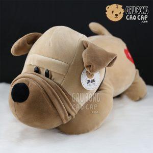 Chó bông mặt xệ tim i love you
