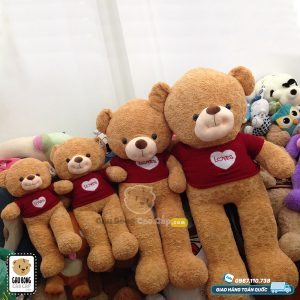 Gấu Teddy Smiley áo len LOVE