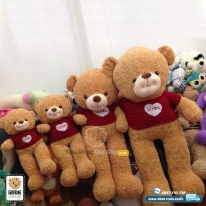 Gấu Teddy Smiley áo len LOVE