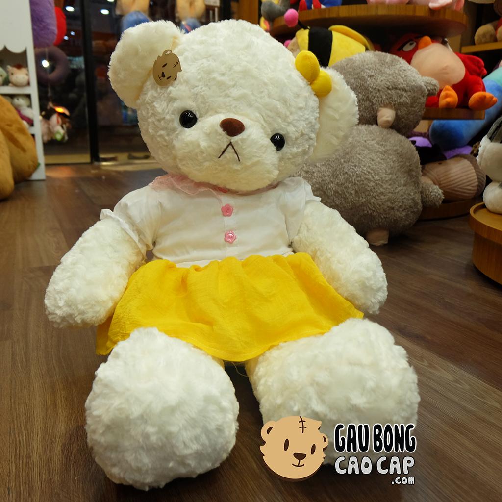 Gấu Teddy mặc đầm Voal