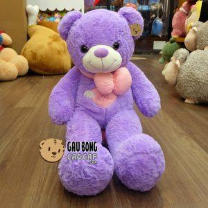 Gấu Teddy Angel Tím - 90cm