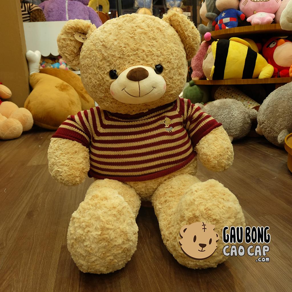 Gấu Teddy áo len Cafe sữa 1m1