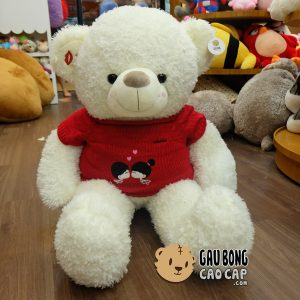 Gấu Teddy lông xù Kissing Couple