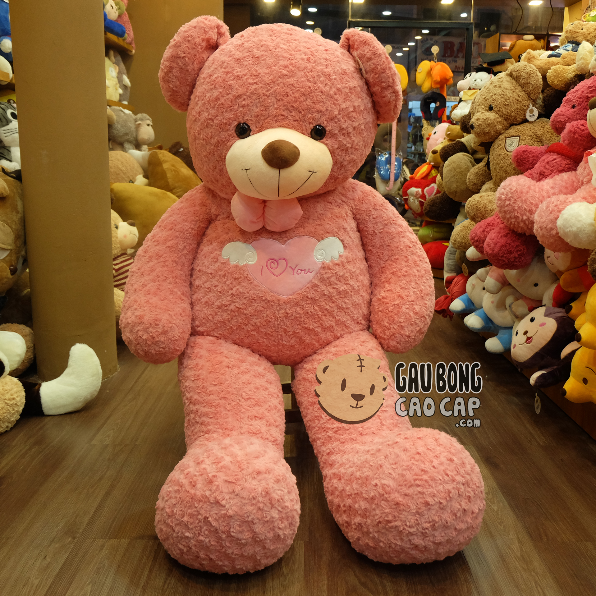 Gấu Teddy Angel màu hồng