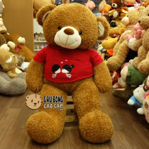 Gấu Teddy áo len Kissing Couple – Màu Honey