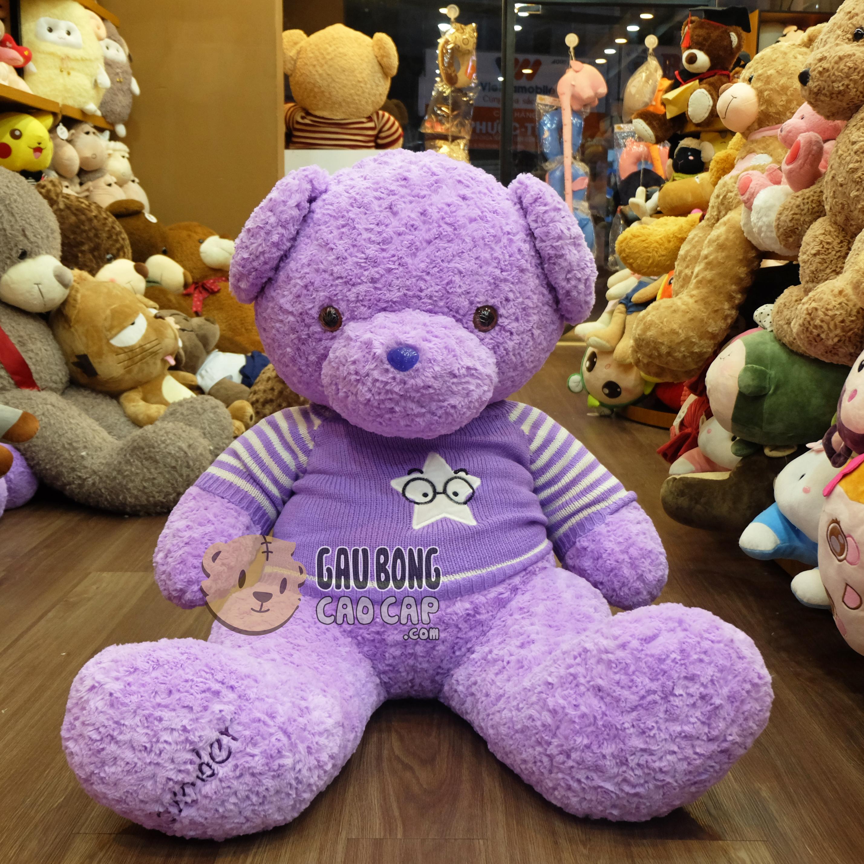 Teddy áo len Lavender