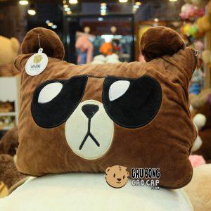 Gối Mền Brown – Gối mền Gấu Bông 2in1