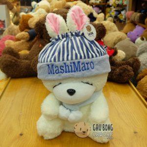 Thỏ Bông Mashimaro đội nón choàng khăn