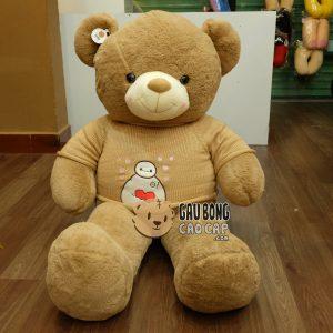 Gấu Teddy áo len Baymax - Nâu