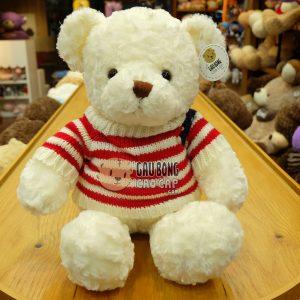 Gấu Teddy áo len Cờ Mỹ - Trắng - 50cm