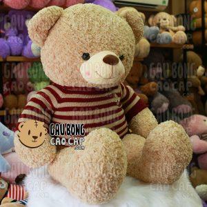 Gấu Teddy áo len Cafe Sữa - Size: 1m4