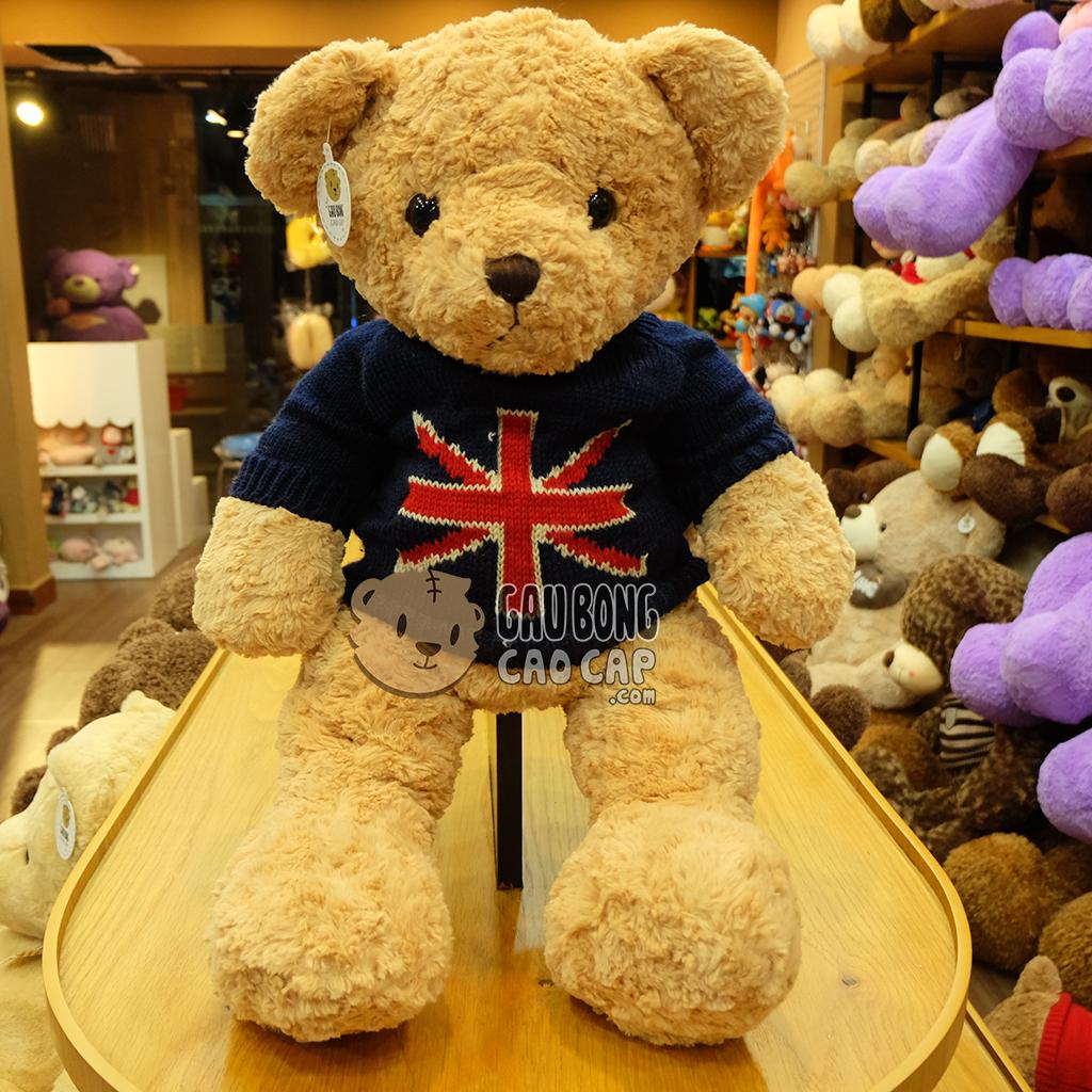 Gấu Teddy Russ áo len cờ anh