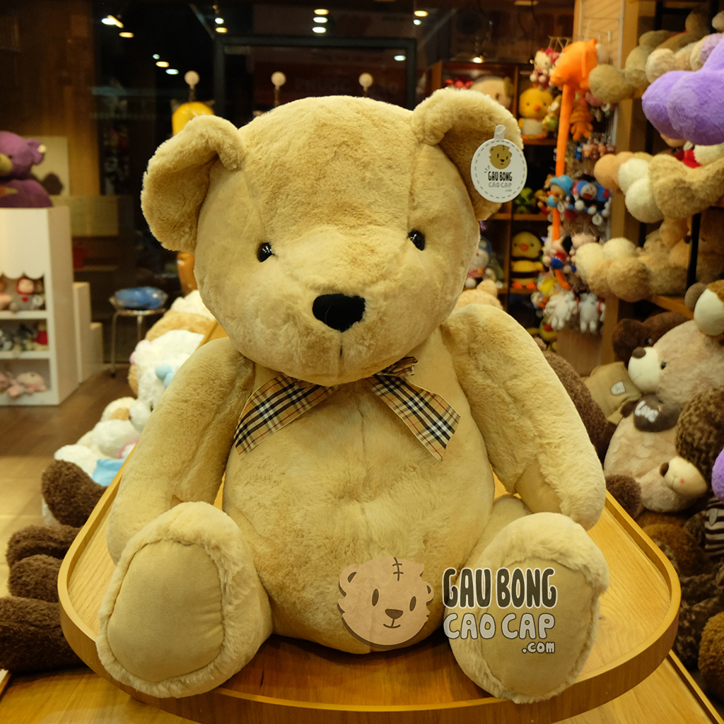 Gấu Teddy Smooth Vintage nơ Caro