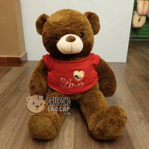 Teddy lông sợi mịn áo len đỏ love
