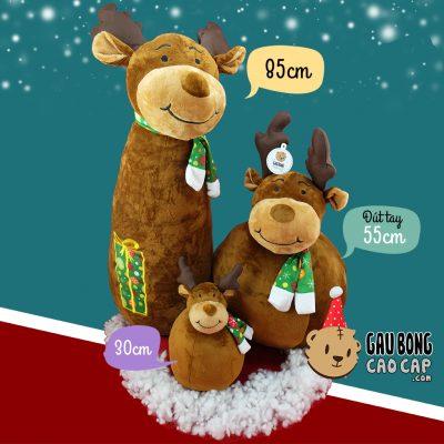 Gấu Bông Tuần Lộc Noel