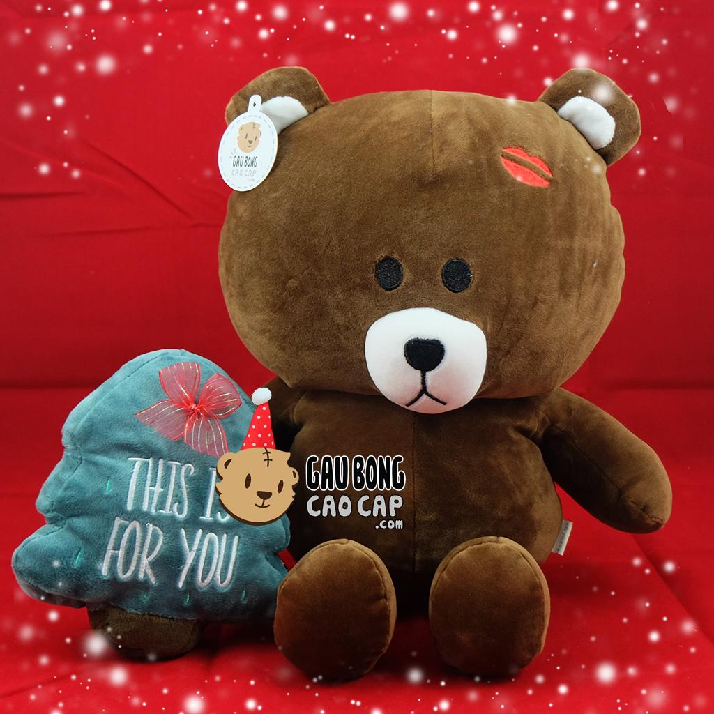 Gấu Brown Kiss môi hôn - Gấu LINE