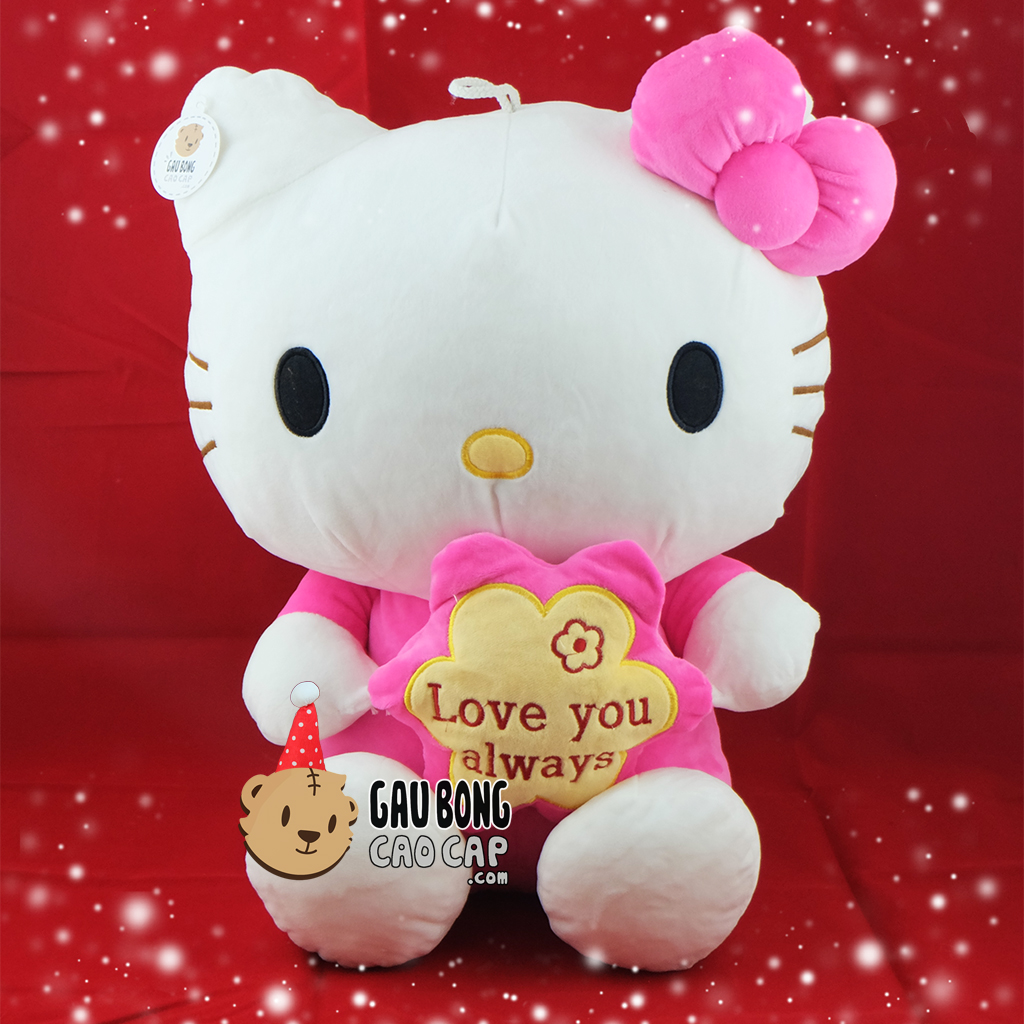Hello Kitty ôm hoa