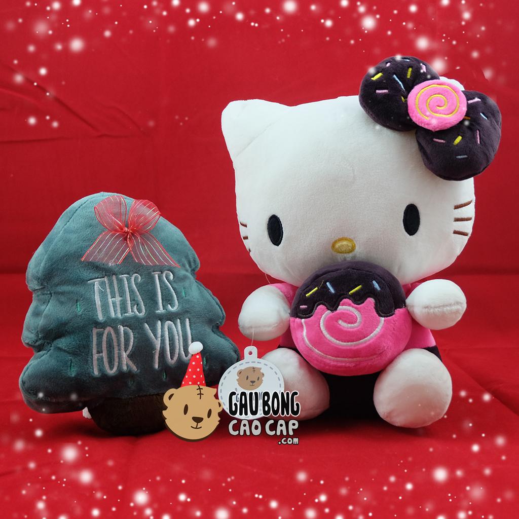 Hello Kitty ôm bánh Donut