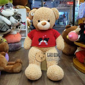 Teddy Lông Xoắn áo len đỏ Sweet Kiss