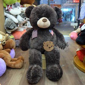 Teddy tim cờ mỹ choàng khăn