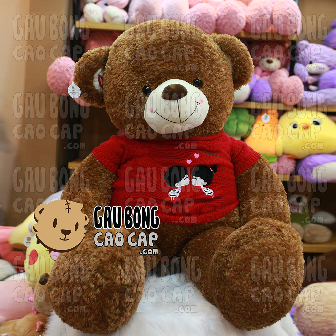 Gấu Teddy áo len Kissing Couple