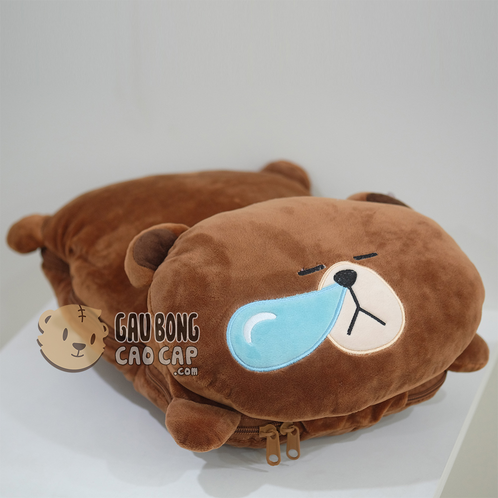 Gối mền Brown 2in1