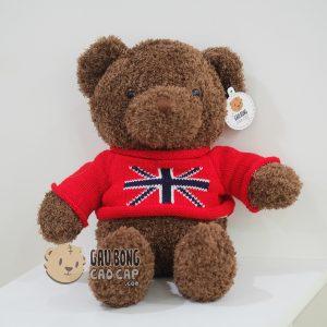Gấu Teddy lông xù cờ anh