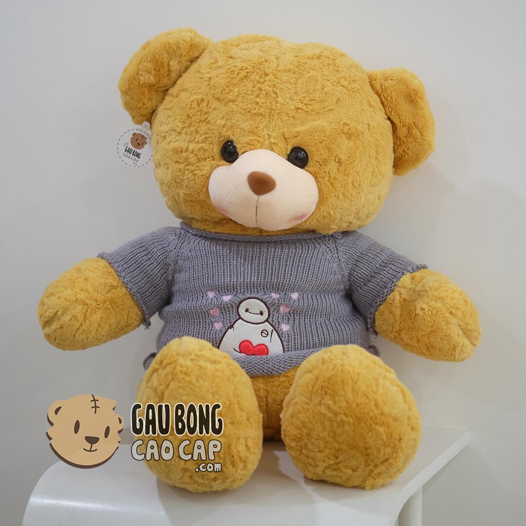 Teddy smiley áo len baymax