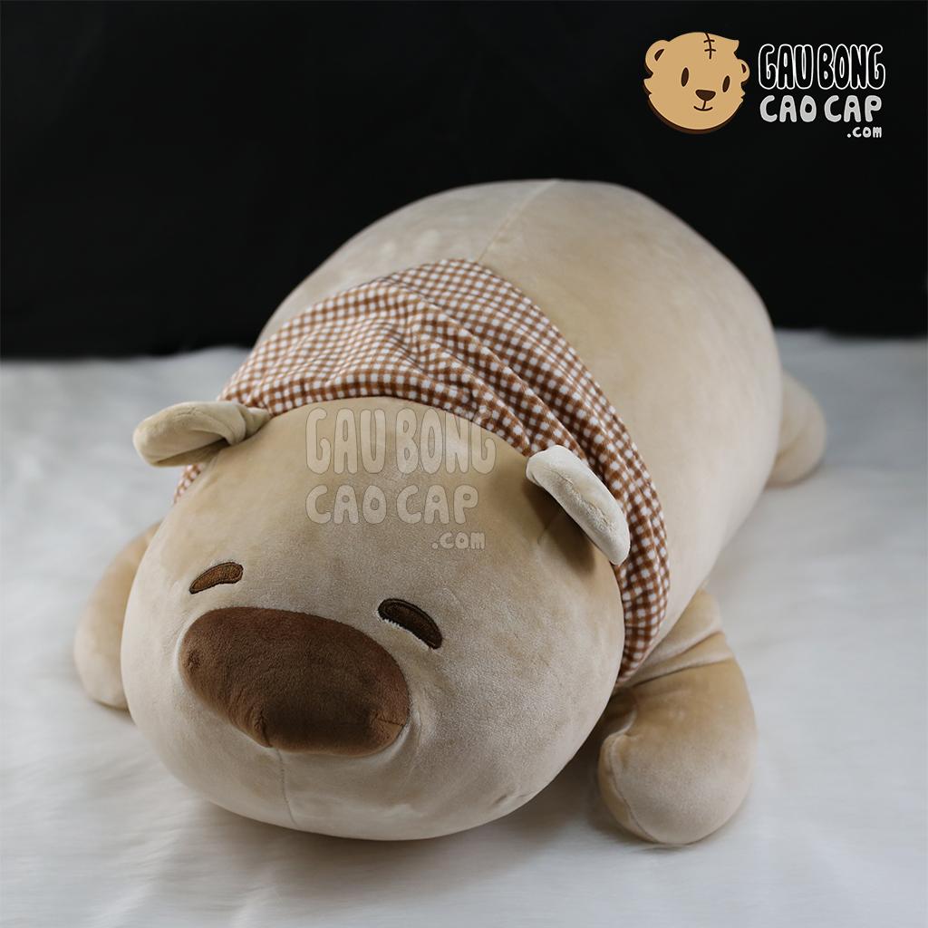 Gấu bắc cực mũi To - Nằm -  Lông Nhung