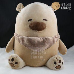 Gấu Bông Bắc Cực mũi to - Ngồi - Lông Nhung