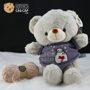 Gấu Teddy áo len baymax Nhí