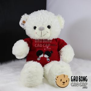 Gấu Teddy áo len Kissing Couple – 70cm