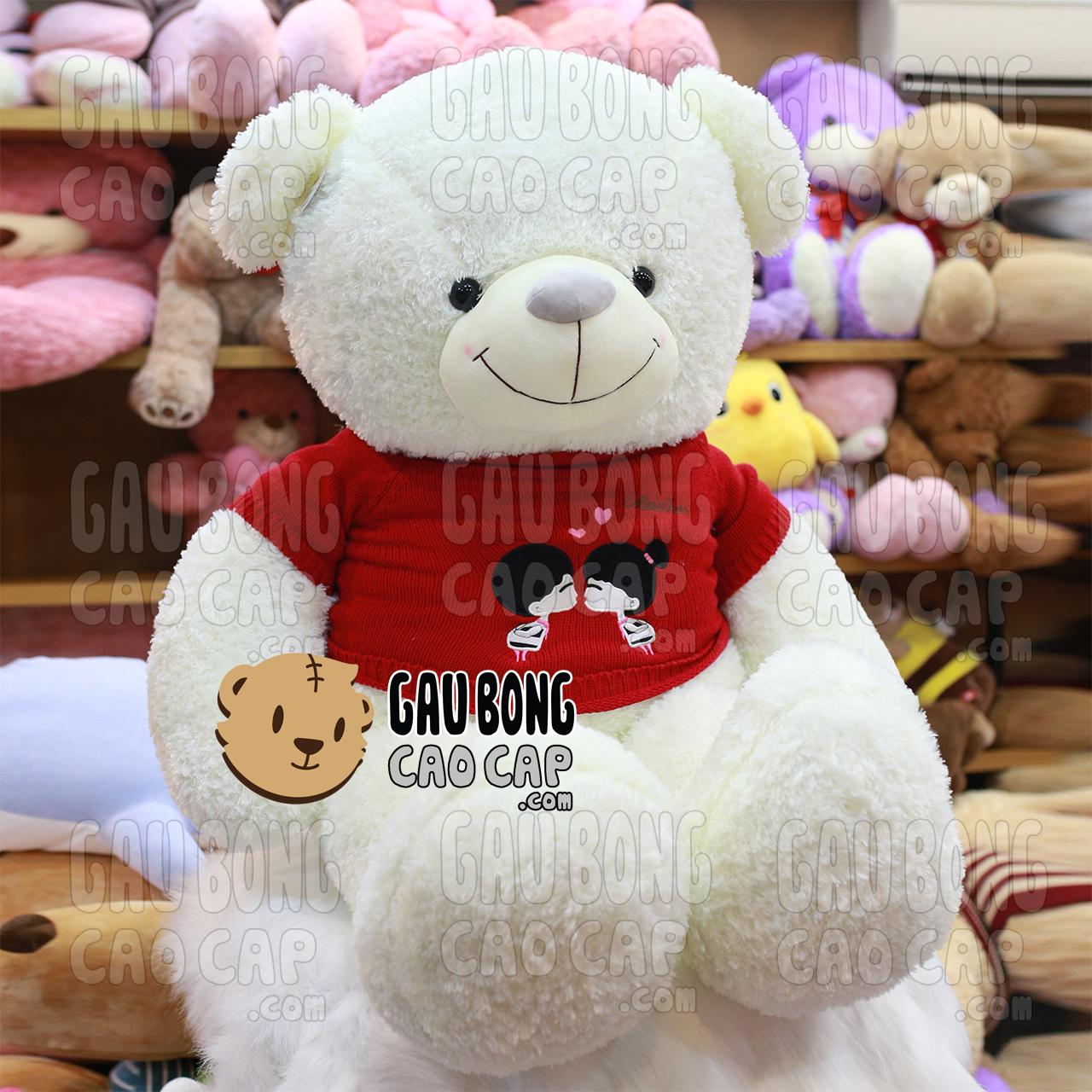 Gấu Teddy Kissing Couple Trắng